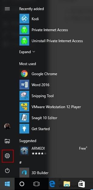 Windows  10 configuraciones