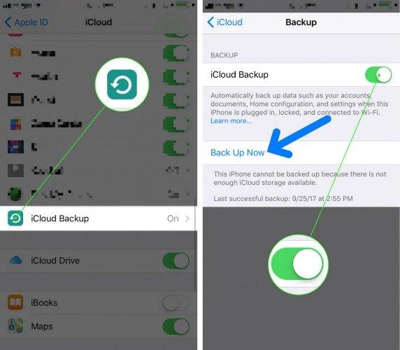 Cómo hacer una copia de seguridad del iPhone en iOS iOS 11