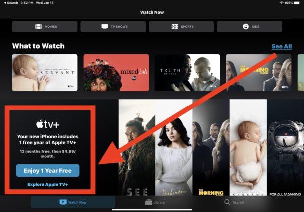 Obtenga un año gratis de Apple Suscripción TV Plus