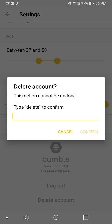 So löschen Sie Ihr Bumble-Konto dauerhaft 3