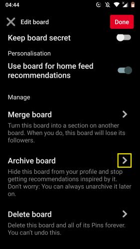 Pinterest Android için: Panoları düzenleme 15