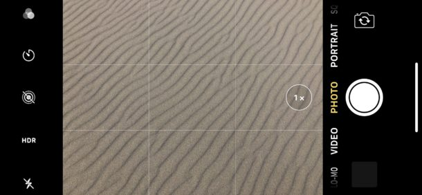 iPhone en orientación horizontal con modo de cámara horizontal horizontal