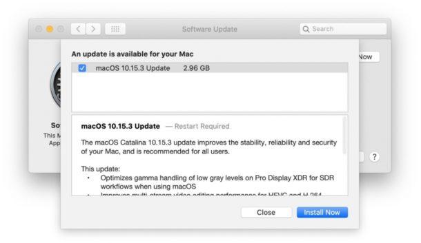 MacOS Catalina 10.15.3 actualizar