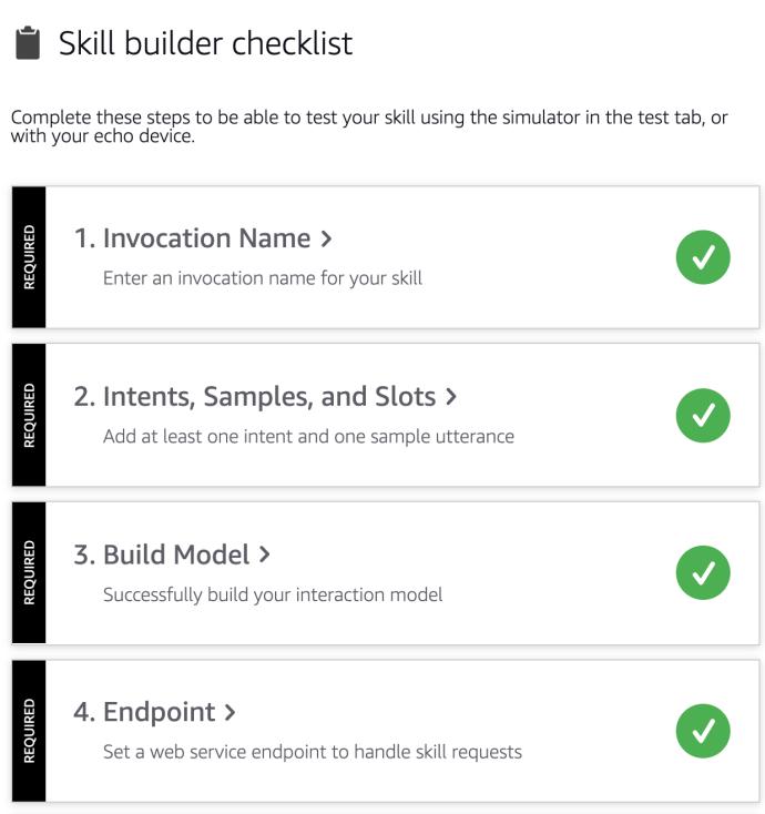 lista de verificación del constructor de habilidades