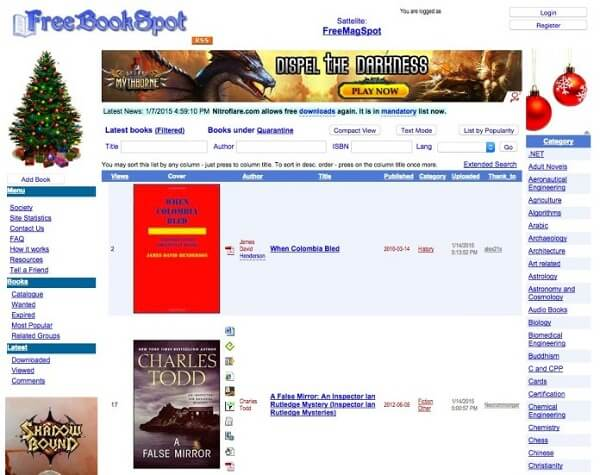 Sitios de torrent FreeBookSpot para libros