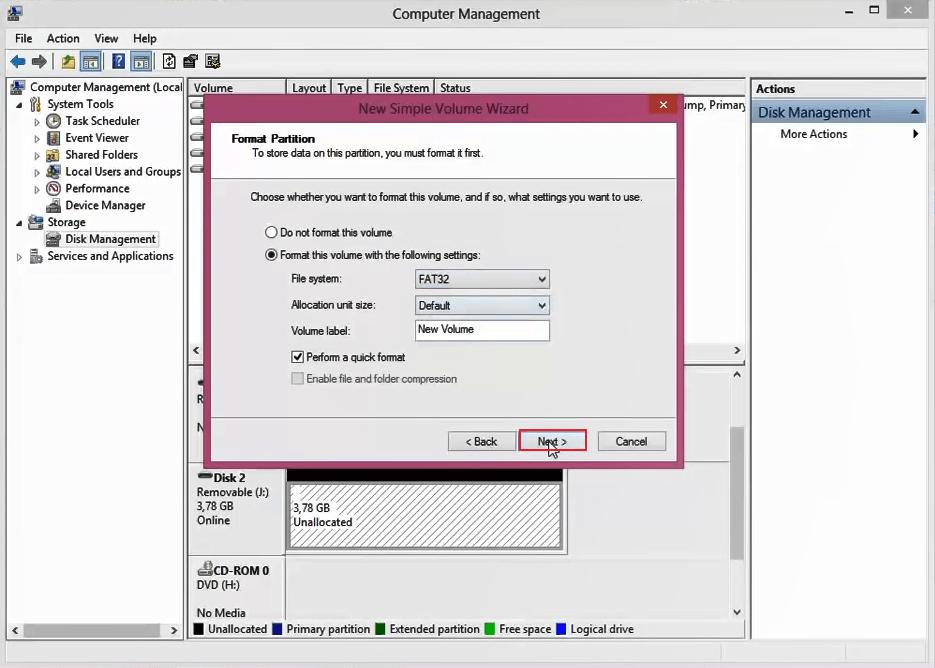 superar Windows El formato no se pudo completar 8