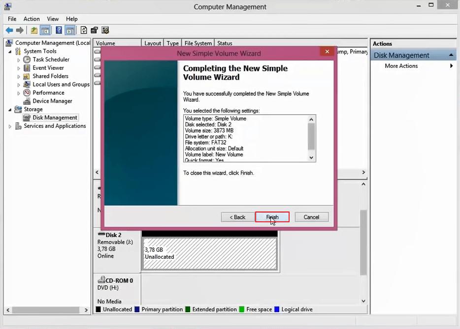 superar Windows El formato no se pudo completar 9