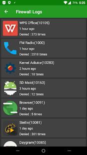 Captura de pantalla de AFWall + (Firewall de Android +)
