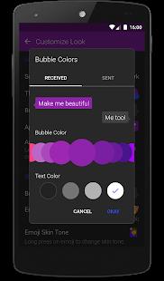 Texto SMS captura de pantalla de texto