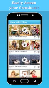 Music Video Editor Añadir pantalla de audio