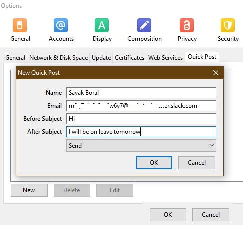 Mailbox Email Client Gmail Slack Forwarding Publicación rápida