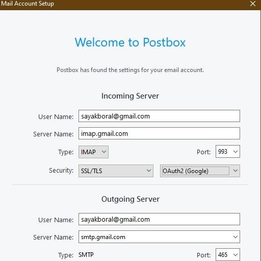 Mailbox Mail client Instalación de Gmail