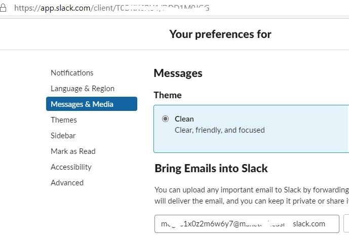 Buzón de correo electrónico Cliente Gmail Slack Reenvío de correo electrónico