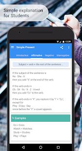 Captura de pantalla de gramática y fonética en inglés