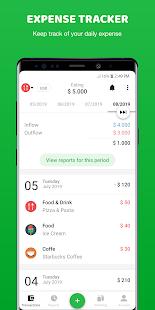 Amante del dinero: Administrador de dinero, captura de pantalla para el Rastreador de gastos para Gastos presupuestarios