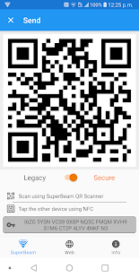 SuperBeam | Captura de pantalla de WiFi Direct Share