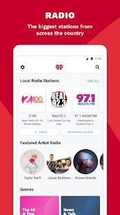 iHeartRadio: captura de pantalla para radio, podcast y música a pedido