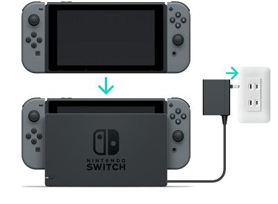 Volver a consultar Nintendo Switch carga