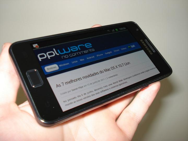 Samsung Galaxy SII - pantalla horizontal