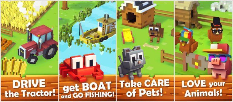 Los mejores juegos de simulador de agricultura en Android: Blocky Farm