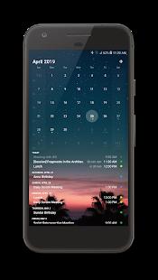 Captura de pantalla para tu widget de calendario