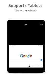 Navegador de transparencias: captura de pantalla con una mano, rápida y confidencial