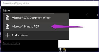 Selecciona la impresora