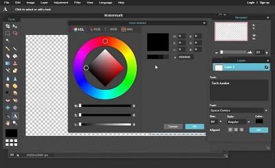 Elige color y fuente