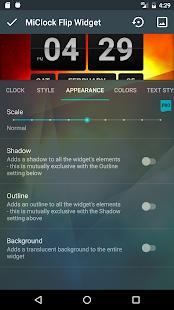 MiClock - Captura de pantalla para Flip Clock Widget