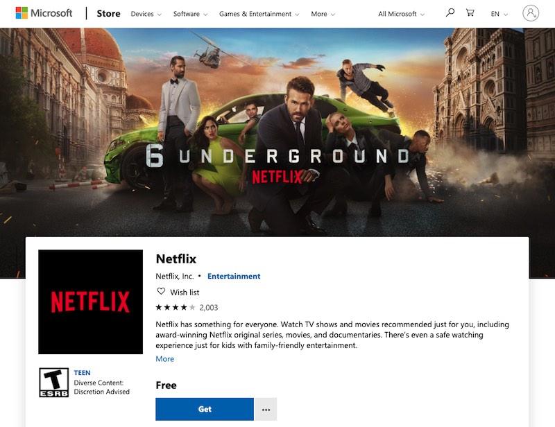 atajos de Netflix Windows