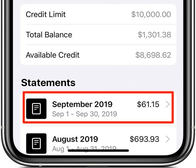 exportador Apple Guía CSV para transacciones con tarjeta