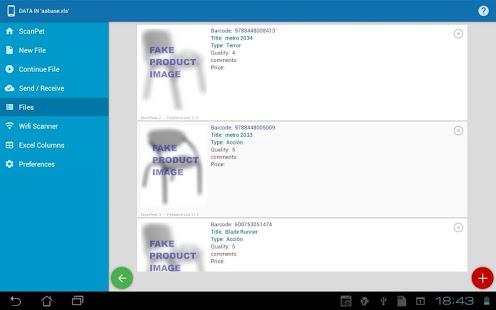Captura de pantalla de Inventory & Barcode Scanner & WIFI Scanner