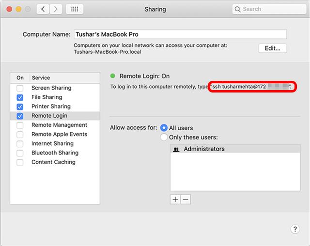 permitir compartir todos los usuarios mac