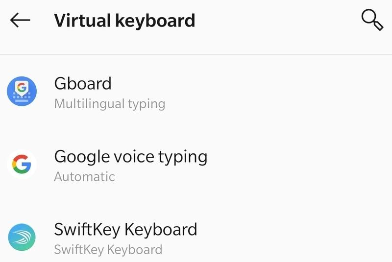 Teclado virtual Gboard Morse