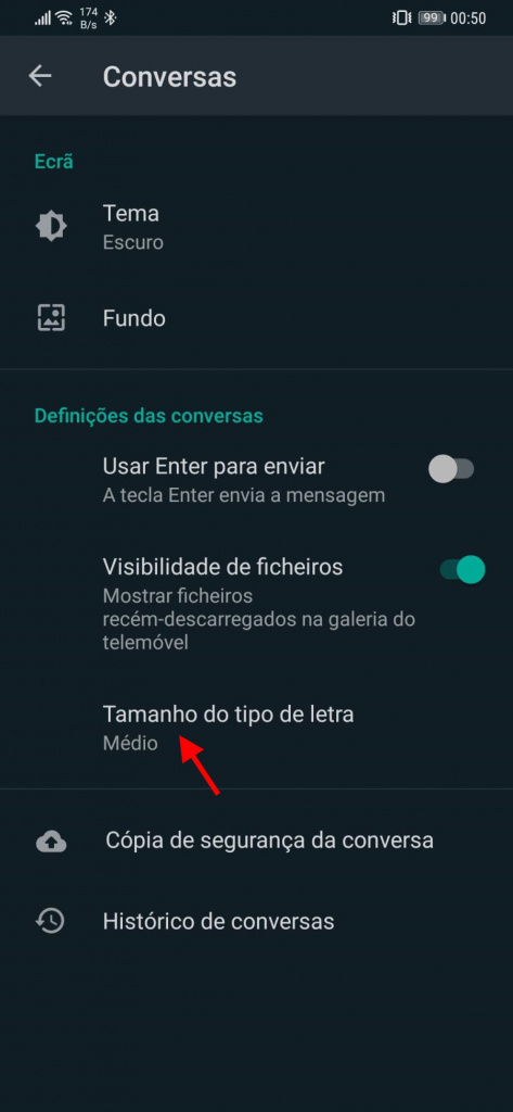 El tamaño de fuente de WhatsApp cambia a los usuarios