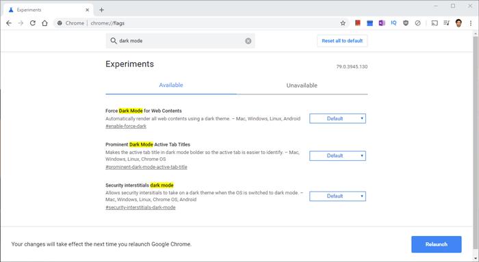 Cómo agregar Google oscuro Chrome-flaggor