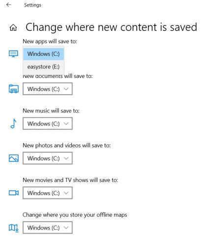 Mover Windows Los programas cambian el modo de descarga predeterminado
