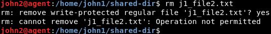 eliminar archivo no permitido