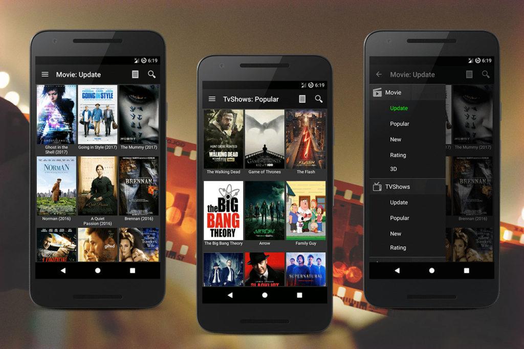 Aplicación Movie HD