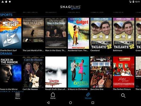 SnagFilms para Android e iOS