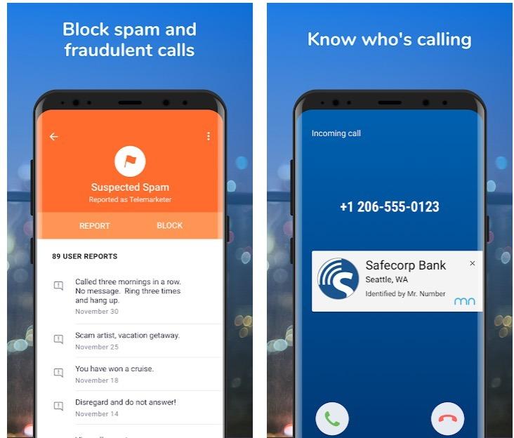 Mr. Number - Llamante ID & Protección contra el spam