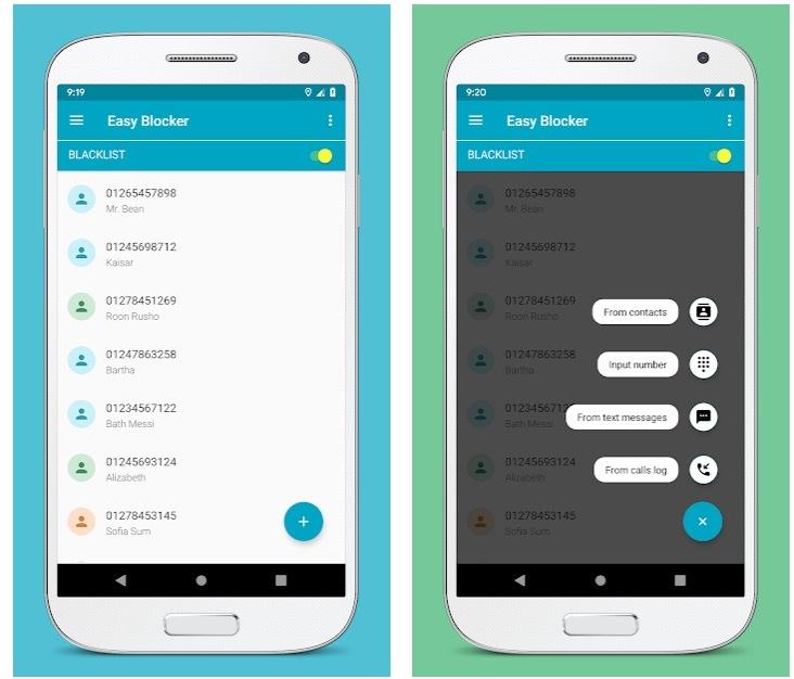 Bloqueador de llamadas: lista negra, bloqueador de SMS
