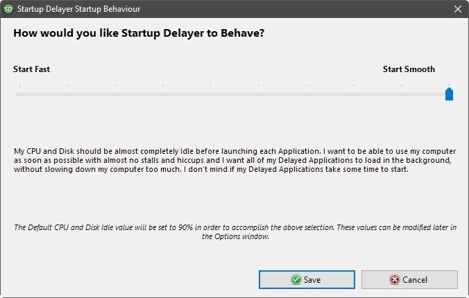Startup Delayer Optimizar inicio de sesión Iniciar sin problemas