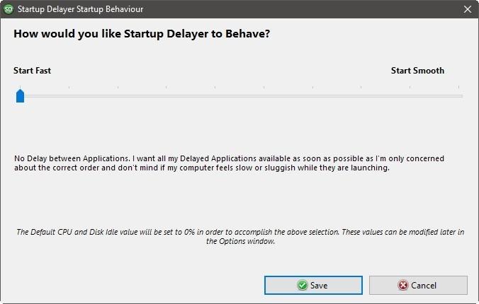 Startup Delayer Optimizar inicio de sesión Comience rápidamente