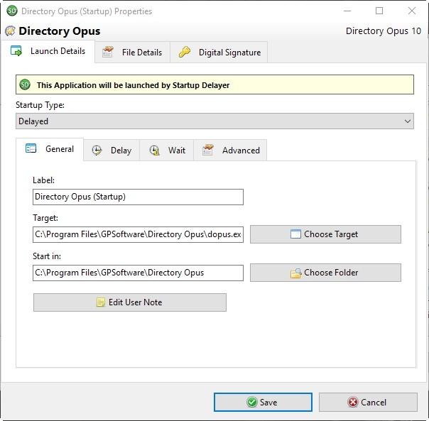 Startup Delayer Optimizar información de inicio de sesión General
