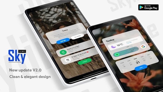Skyline Kwgt Captura de pantalla