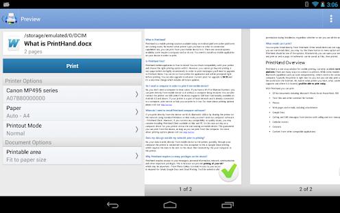 Captura de pantalla de PrintHand Mobile Print Premium