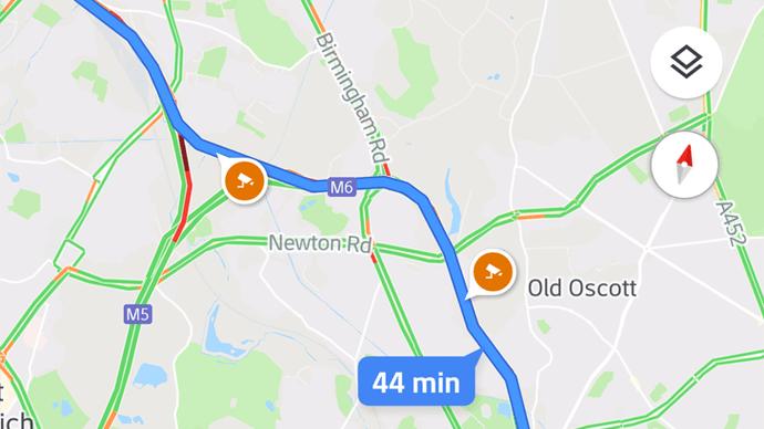Google Maps velocidad de cámara
