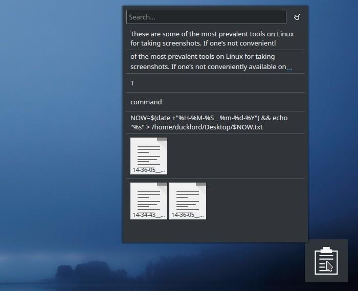 Kde Clipboard Widget Txt Notes Lista del portapapeles