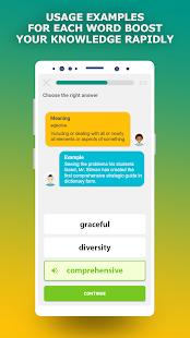 förberedelseapp TOEFL. Captura de pantalla de Aprender vocabulario en inglés